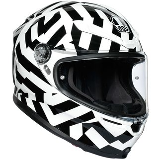 AGV K6 Secret Integralhelm Black White schwarz weiss