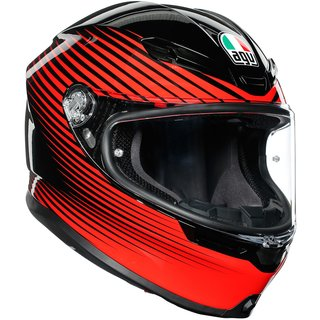 AGV K6 Rush Integralhelm Black Red schwarz rot