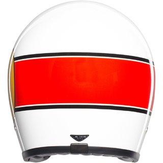 AGV X70 Mino 73 White Red Jethelm weiss rot