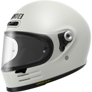 Shoei Glamster Retro-Helm Einfarbig Off White weiss