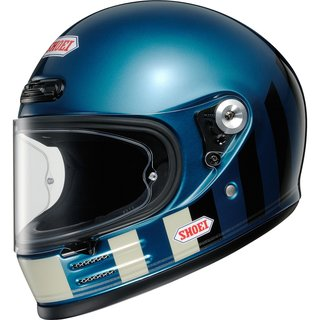Shoei Glamster Resurrection Retro-Helm TC-2 blau schwarz...
