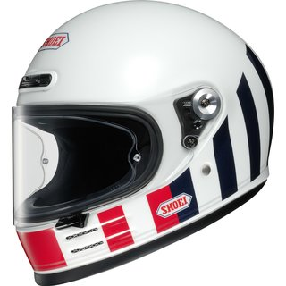 Shoei Glamster Resurrection Retro-Helm TC-10 weiss blau rot
