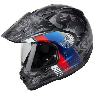 Arai Tour-X4 Cover Enduro-Helm Blue blau grau rot