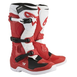 Alpinestars Tech 3 Cross-Stiefel rot weiss