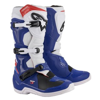 Alpinestars Tech 3 Cross-Stiefel blau weiss rot