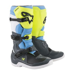 Alpinestars Tech 3 Cross-Stiefel grau neongelb
