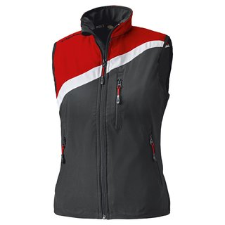Held Ray Vest Damen Softshell-Weste schwarz rot