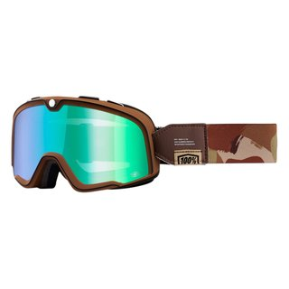 100% Barstow Pendleton Crossbrille verspiegelt Flash Green