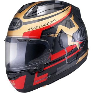 Arai RX-7V Isle of Man TT 2020 Helm grau gold rot