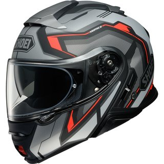Shoei Neotec II Respect Helm TC-5 matt grau rot schwarz