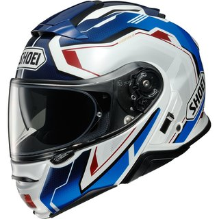 Shoei Neotec II Respect Helm TC-10 blau rot weiss