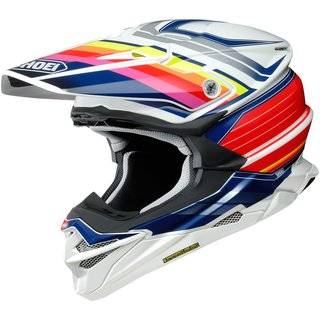 Shoei VFX-WR Pinnacle Crosshelm TC-1 rot weiss