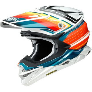 Shoei VFX-WR Pinnacle Crosshelm TC-8 orange weiss blau