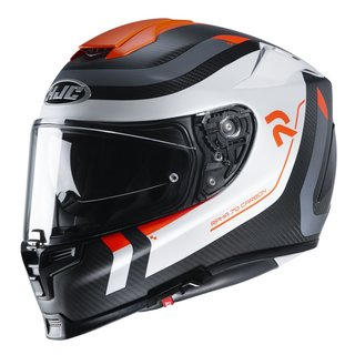 HJC Rpha 70 Carbon Reple Helm MC6HSF neonorange weiss