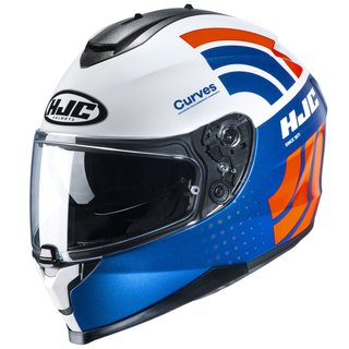 HJC C70 Curves Helm MC27 blau orange weiss