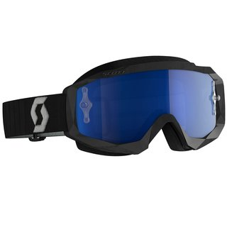 Scott Hustle X MX schwarz grau Cross-Brille blau verspiegelt