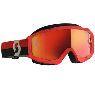 Scott Hustle X MX rot grau Cross-Brille