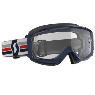 Scott Split OTG blau weiss Cross-Brille klar