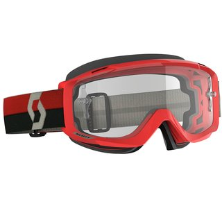 Scott Split OTG rot grau Cross-Brille