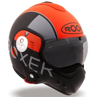 Roof V8 GRAPHIC Systemhelm orange