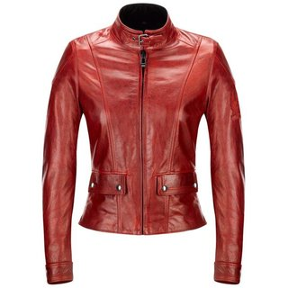 Belstaff Fordwater Lederjacke Damen antique rot