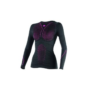 Dainese D-Core Thermo Tee Ls Lady Shirt schwarz fuchsia