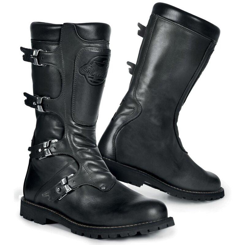 Schwarz Wasserabweisende Stylmartin Continental Stiefel Stylmartin JlT3uK1cF