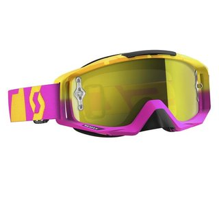 Scott Tyrant yellow Chrome works 2015 Crossbrille pink gelb