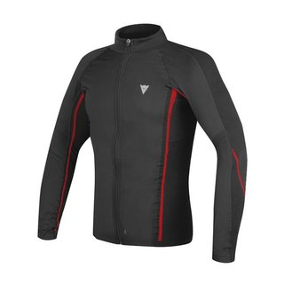 Dainese D-Core No-Wind Thermo Tee LS Windstopper schwarz rot