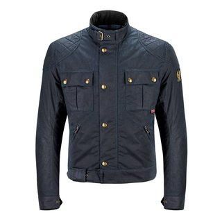 Belstaff Brooklands Blouson Man Jacke-Waxcotton navy blue