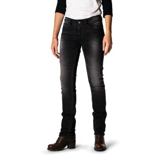 Rokker The Donna Black Damen-Jeans schwarz