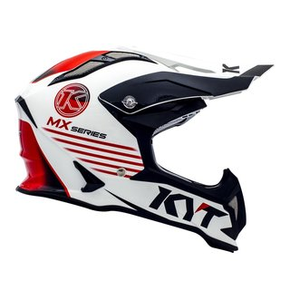 KYT Strike Eagle Crosshelm K-MX weiss rot