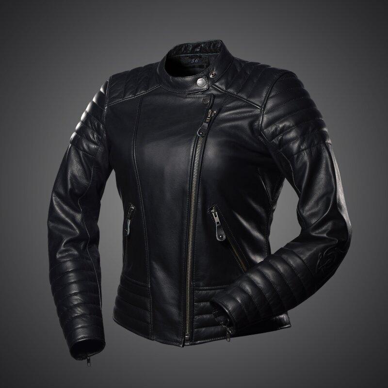 4sr cool lady damen motorrad lederjacke schwarz. Black Bedroom Furniture Sets. Home Design Ideas