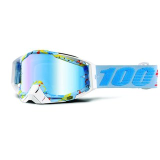100% Racecraft Hyperloop Offroad Brille verspiegelt Blau