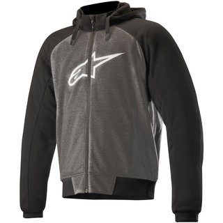 alpinestars chrome sport hoodie anthrazit schwarz weiss. Black Bedroom Furniture Sets. Home Design Ideas