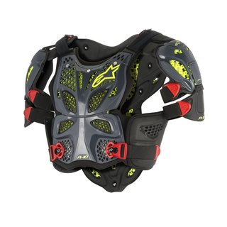 Alpinestars A-10 Full Chest Protector Anthrazit Schwarz Rot