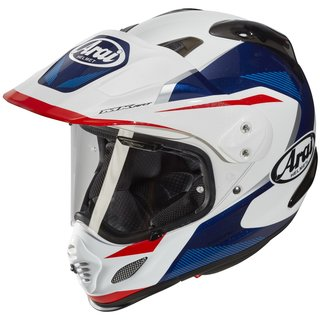 Arai Tour-X4 Break Enduro-Helm Blue weiss blau rot