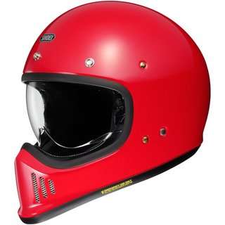 Shoei EX-Zero Retro-Helm Einfarbig Shine Red rot