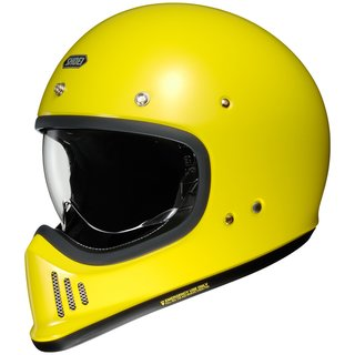 Shoei EX-Zero Retro-Helm Einfarbig Bright Yellow gelb