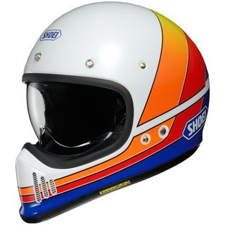 Shoei EX-Zero Equation Retro-Helm TC-2 weiss blau orange
