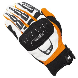 Held Backflip Motocross Handschuh weiss orange