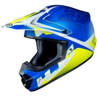 HJC CS-MX II Ellusion Crosshelm MC2SF matt blau gelb
