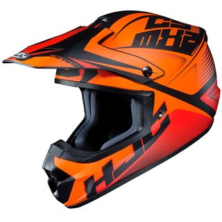 HJC CS-MX II Ellusion Crosshelm MC7SF matt orange schwarz
