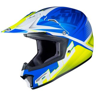 HJC CL-XY II Ellusion Kinder-Crosshelm MC2SF matt blau gelb