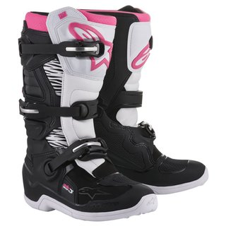 Alpinestars Stella Tech 3 Damen Cross-Stiefel weiss rosa...