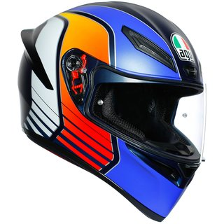 AGV K1 Power Helm Matt Dark Blue Orange White matt blau...