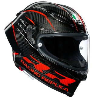 AGV Pista GP RR Performance Helm Carbon Red carbon grau rot